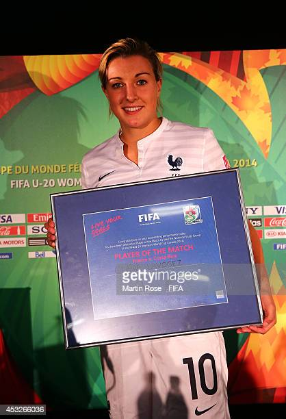 Claire Lavogez of France is honored as player of the match after the FIFA U20 Women's World Cup 2014 group D match between France and Costa Rica at...