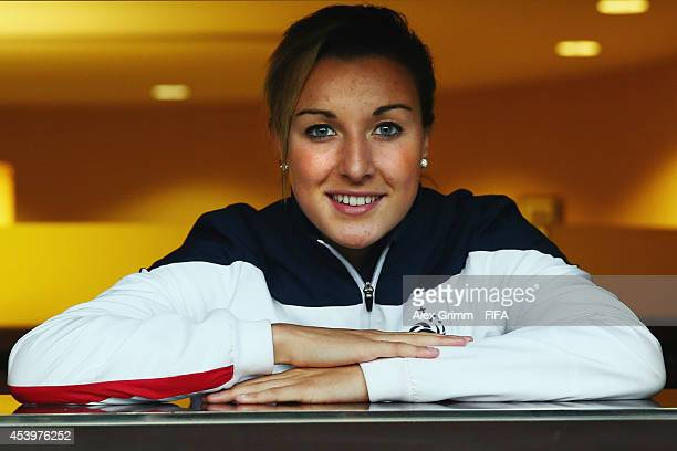 Claire Lavogez of France poses after an interview at the Sheraton Hotel on August 22 2014 in Montreal Canada