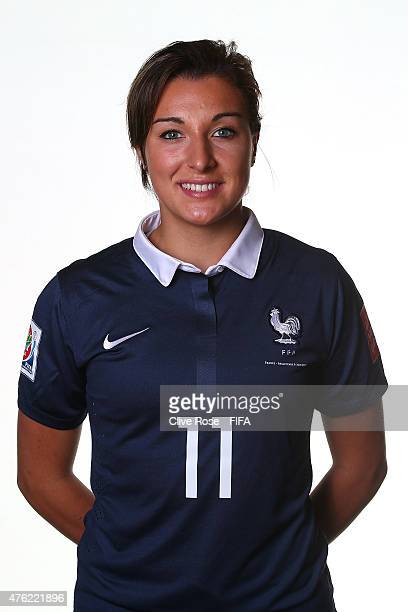Claire Lavogez of France poses during a FIFA Women's World Cup portrait session on June 6 2015 in Moncton Canada