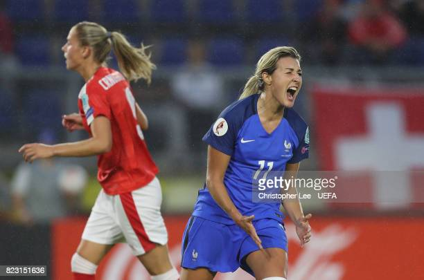 Claire Lavogez of France screems after missing a chance to score during the UEFA Women's Euro 2017 Group C match between Switzerland and France at...