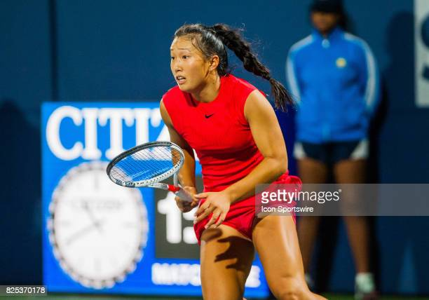 Claire Liu competes during the WTA Tour Bank of the West Classic match on July 31 2017 at Taube Family Tennis Center in Stanford CA