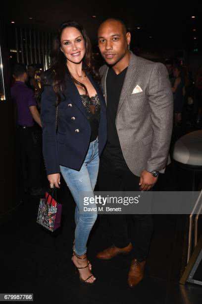 Claire Merry and Jordan TurnerHall attend STK Ibiza themed brunch party at STK London at STK London on May 7 2017 in London England