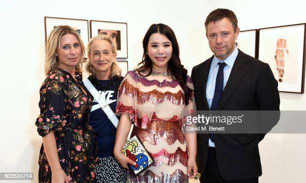 Claire Miles Lucinda Chambers Wendy Yu and William Ling attend the Fashion Illustration Gallery Art Fair private view at The Shop at Bluebird...