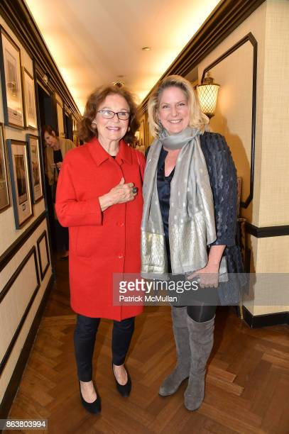 Claire Potter and Felicia Taylor attend the launch of Second Bloom Cathy Graham's Art of the Table hosted by Joanna Coles and Clinton Smith at...
