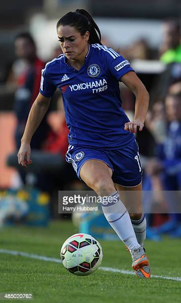 Claire Rafferty of Chelsea Ladies FC during the FA WSL match between Arsenal Ladies FC and Chelsea Ladies FC at Meadow Park on August 23 2015 in...