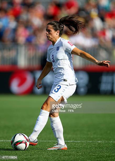 Claire Rafferty of England in action during the FIFA Women's World Cup 2015 Group F match between England and Mexico at Moncton Stadium on June 13...