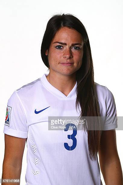 Claire Rafferty of England poses during a FIFA Women's World Cup portrait session on June 6 2015 in Moncton Canada