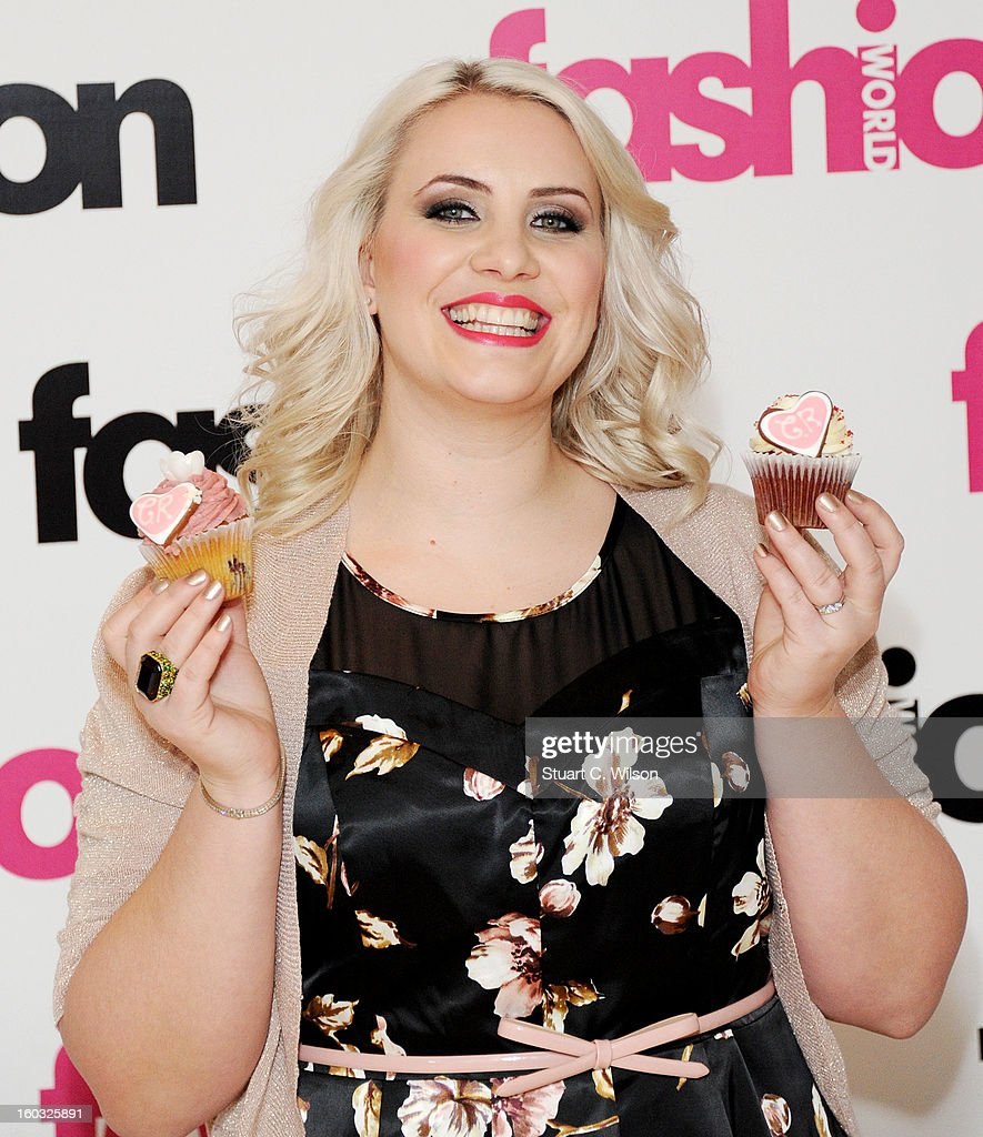 Claire Richards attends a photocall to launch her collaboration with Fashion World on January 29, 2013 in London, England.