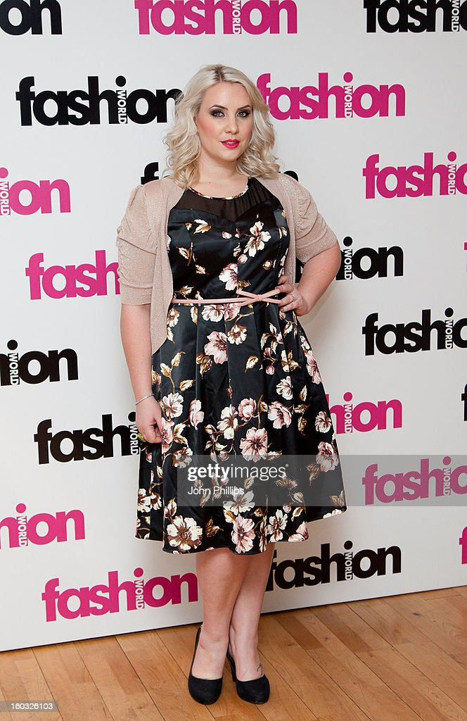 <a gi-track='captionPersonalityLinkClicked' href=/galleries/search?phrase=Claire+Richards&family=editorial&specificpeople=216222 ng-click='$event.stopPropagation()'>Claire Richards</a> attends a photocall to launch her collaboration with Fashion World on January 29, 2013 in London, England.