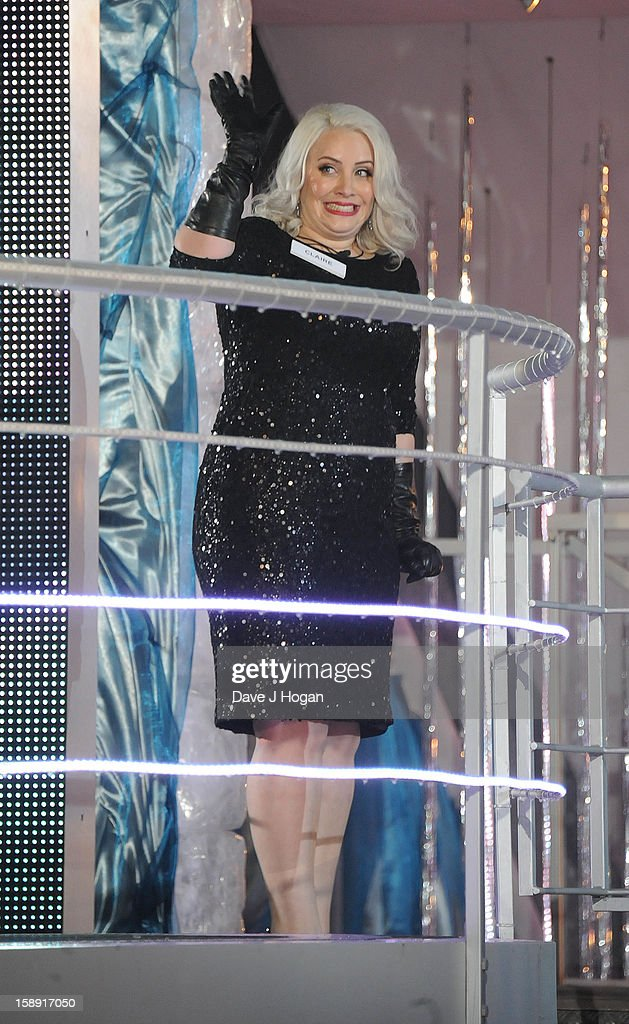 Claire Richards enters the Celebrity Big Brother House at Elstree Studios on January 3, 2013 in Borehamwood, England.