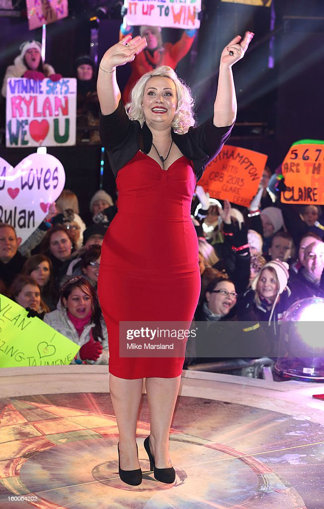 Claire Richards evicted from the Celebrity Big Brother House at Elstree Studios on January 25, 2013 in Borehamwood, England.