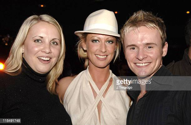 Claire Richards Faye Tozer and John Lee during 'Saucy Jack and the Space Vixens' Party December 6 2005 at The Venue in London Great Britain