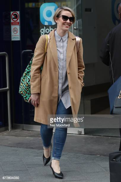 Claire Richards from Steps seen leaving the Global Radio Studios on April 25 2017 in London England