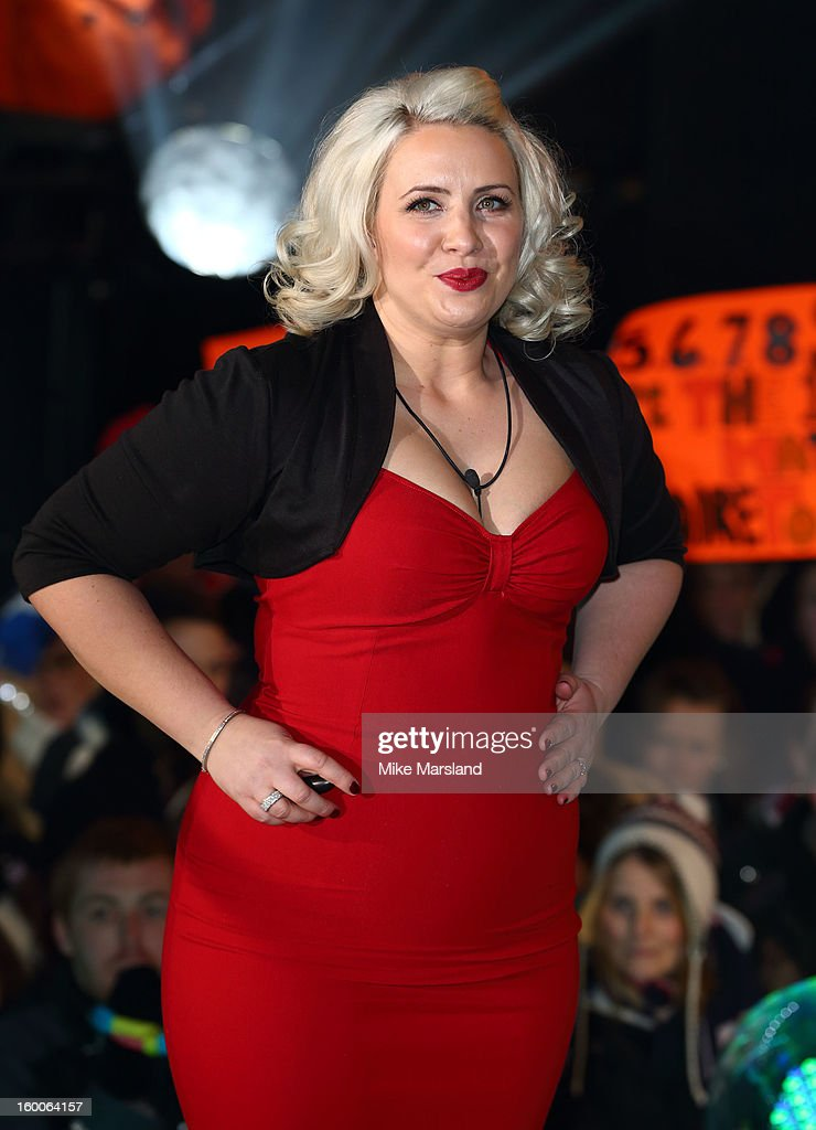 Claire Richards is evicted from the Celebrity Big Brother House at Elstree Studios on January 25, 2013 in Borehamwood, England.