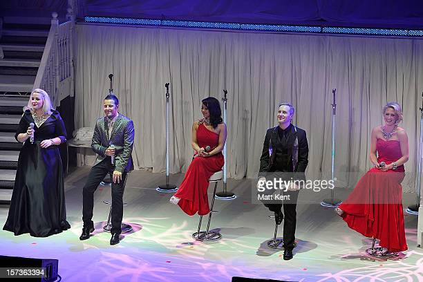 Claire Richards Lee LatchfordEvans Lisa CottLee Ian 'H' Watkins and Faye Tozer of Steps perform at London Palladium on December 2 2012 in London...