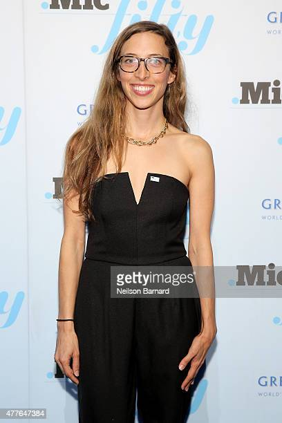 Claire Schmidt attends GREY GOOSE Vodka Hosts The Inaugural Mic50 Awards at Marquee on June 18 2015 in New York City