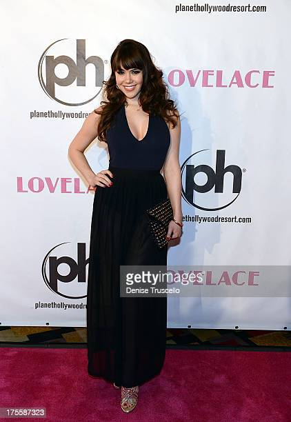 Claire Sinclair arrives at the 'Lovelace' premiere at Planet Hollywood Resort and Casino on August 4 2013 in Las Vegas Nevada