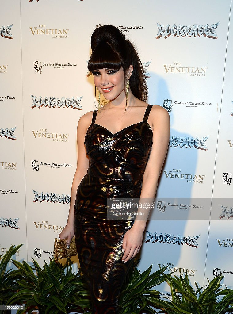 Claire Sinclair arrives at the Rock Of Ages opening after party at The Venetian on January 5, 2013 in Las Vegas, Nevada.