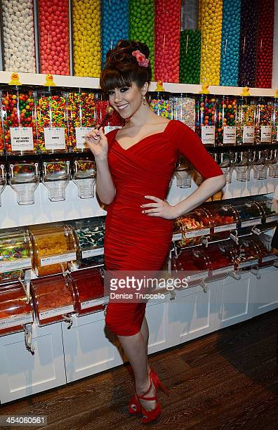 Claire Sinclair attends the Sugar Factory grand opening at Town Square on December 6 2013 in Las Vegas Nevada