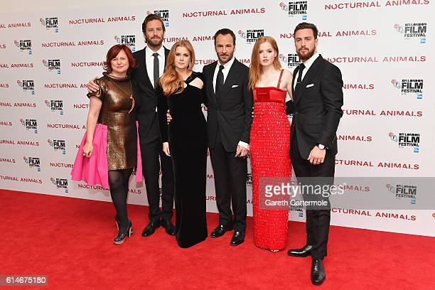Claire Stewart Armie Hammer Amy Adams Tom Ford Ellie Bamber and Aaron TaylorJohnson attend the 'Nocturnal Animals' Headline Gala screening during the...