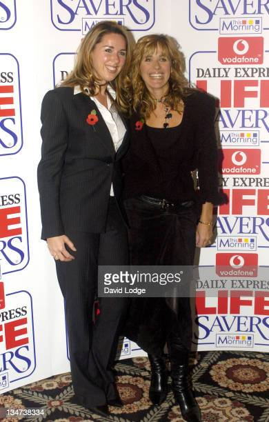 Claire Sweeney and Carol Smilie during Vodafone Life Savers Awards 2004 at Savoy Hotel in London Great Britain