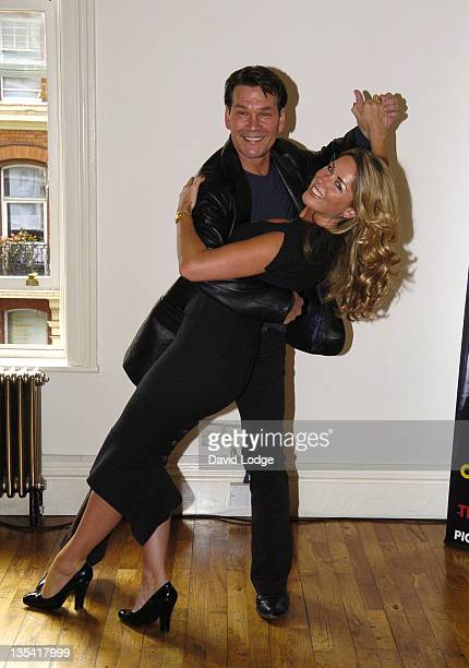 Claire Sweeney and Patrick Swayze during 'Guys Dolls' Cast Change Photocall and Reception June 5 2006 at Century in London Great Britain