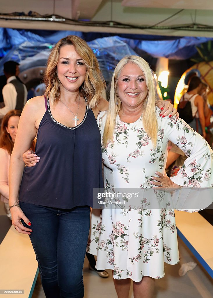 Claire Sweeney and Vanessa Feltz attend the launch of the new Sky Kids Cafe, an imaginative play and themed cafe pop-up to celebrate the new Sky Kids app at The Vinyl Factory on May 29, 2016 in London, England.