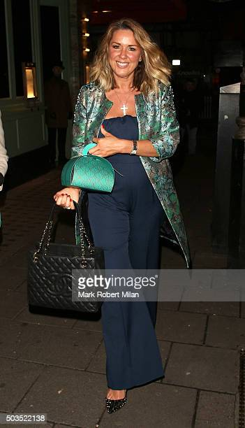 Claire Sweeney at Sexy Fish restaurant on January 5 2016 in London England