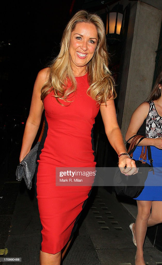 Claire Sweeney at the Ivy restaurant on June 20, 2013 in London, England.