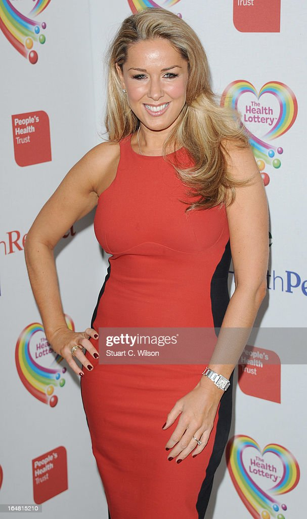 Claire Sweeney attends a fundraising event in aid of The Health Lottery hosted by Simon Cowell at Claridges Hotel on March 28, 2013 in London, England.