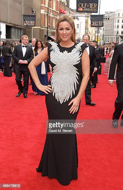Claire Sweeney attends The Olivier Awards at The Royal Opera House on April 12 2015 in London England