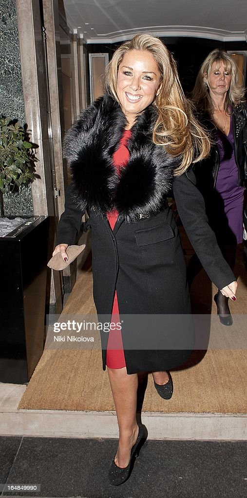 Claire Sweeney sighting at Claredges hotel on March 28, 2013 in London, England.