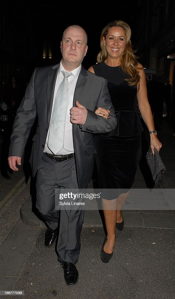 Claire Sweeney (R) sightings at the OK! Magazine 20th Anniversary Party held at Clarendon Fine Art on April 16, 2013 in London, England.