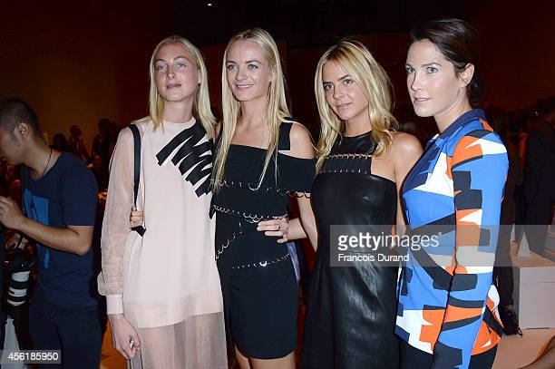 Claire Virginie and Jenna Courtin Clarins and guest attend the Mugler show as part of the Paris Fashion Week Womenswear Spring/Summer 2015 on...