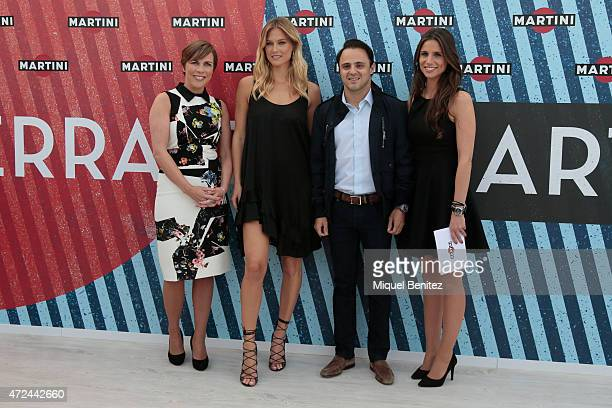 Claire Williams Model Bar Refaeli Williams Martini Raacing driver Felipe Massa and Lucia Villalon attend at Terraza Martini to announce Bar Refaeli...