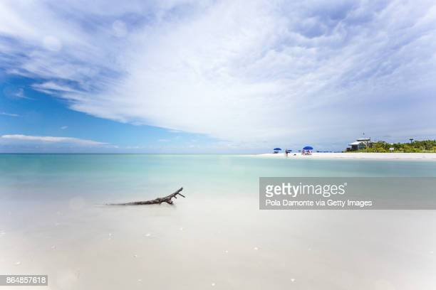 Clam pass park at Naples Pier and calm ocean, Florida
