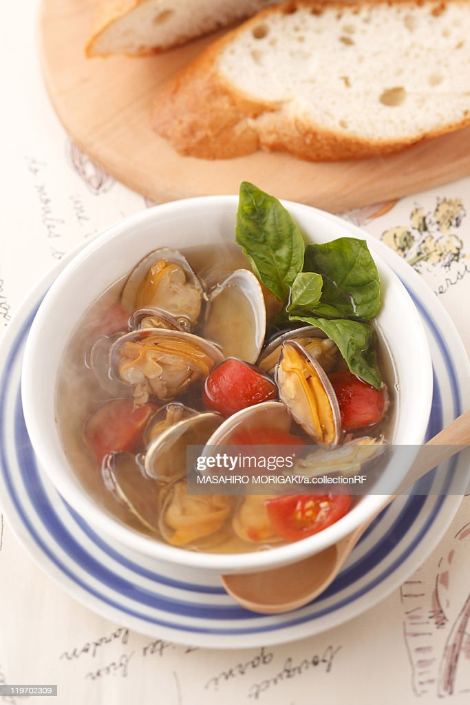 Clam Soup : Stock Photo