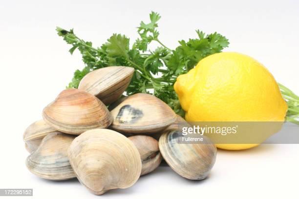 clams, lemon, and parsley