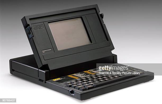 �Clamshell� rugged portable laptop computer Compass model made by GRiD Defence Systems Limited Middlesex