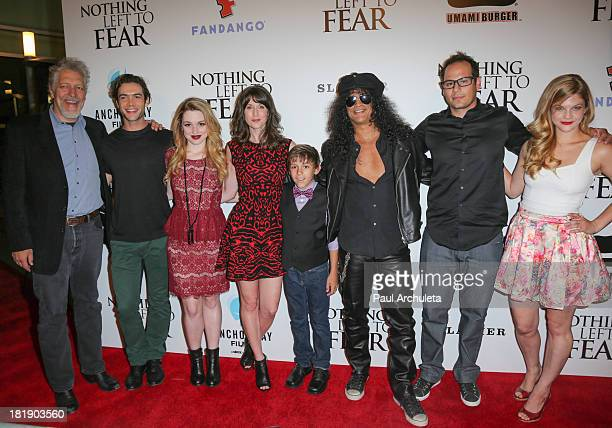 Clancy Brown Ethan Peck Jennifer Stone Heather Roop Carter Cabassa Slash Anthony Leonardi III and Rebekah Brandes attend the 'Nothing Left To Fear'...