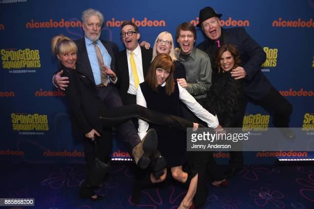 Clancy Brown Tom Kenny Carolyn Lawrence Jill Talley and Lori Alan Bill Fagerbakke attend opening night of Nickelodeon's SpongeBob SquarePants The...