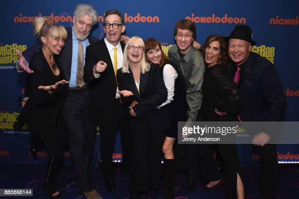 Clancy Brown Tom Kenny Carolyn Lawrence Jill Talley and ori Alan Bill Fagerbakke attend opening night of Nickelodeon's SpongeBob SquarePants The...