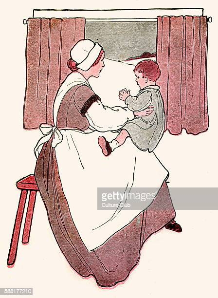 Clap Handies illustration by Blanche Fisher Wright published 1916 Clap clap handies Mammies wee wee ain