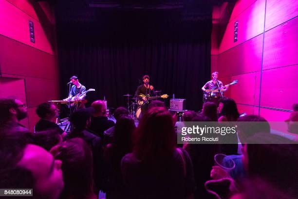 Clap Your Hands Say Yeah perform on stage at CCA on September 16 2017 in Glasgow Scotland