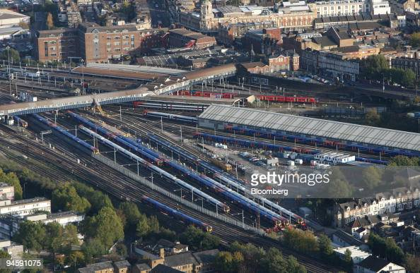 Clapham Junction rail station is seen in this aerial photograph taken over London UK Thursday November 9 2006 Clapham Junction is Europe's busiest...