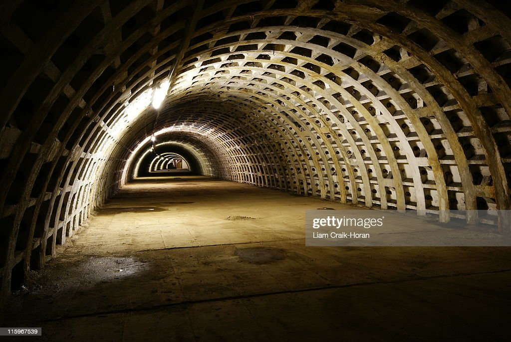 Clapham North Deep Shelter, London : Stock Photo