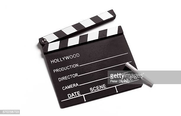 Clapperboard with copy space