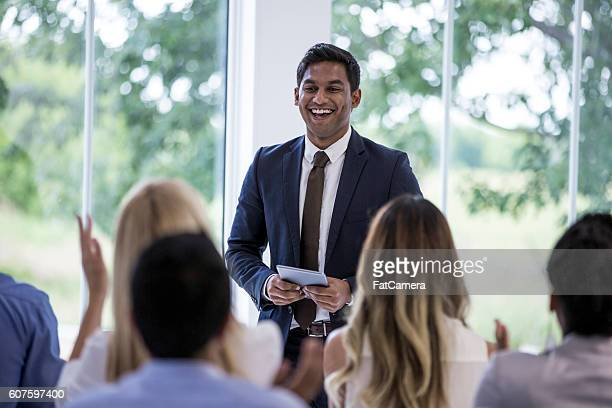 Clapping After a Presentation