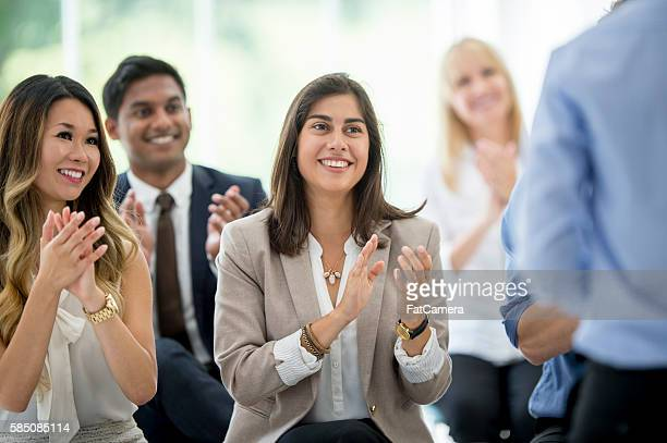 Clapping at the End of a Presentation