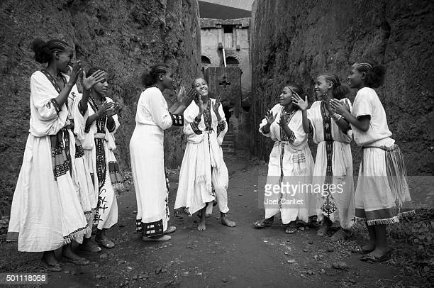 Clapping in Lalibela, Ethiopia